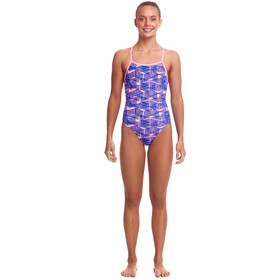 Funkita Strapped In Maillot de bain une pièce Fille, bar bara